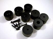 """8 Genuine Penn Elcom F1686/25  Amp Rubber Feet / Speaker Foot Bumper 1""""x1-9/16"""""""