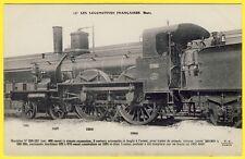 cpa LOCOMOTIVE à VAPEUR (Etat) pour TRAIN de GRANDE VITESSE de 1885 Animé
