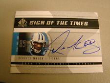 2004 SP Authentic # SOT-MA Derrick Mason Autogrammkarte Tennessee Titans Box 8