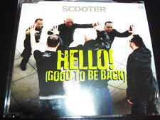 Scooter Hello Good To Be Back Remixes (Australian) CD Single - NEW