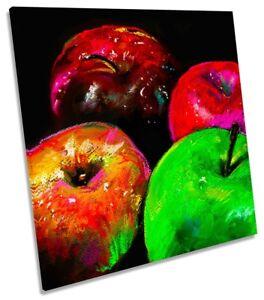 Apples Still Life Paint Repro CANVAS WALL ARTWORK Square Art Print