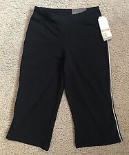 CHAMPION Semi-Fitted Women's Black Yoga Pants - Duo Dry Stretch - Size XS (4501)