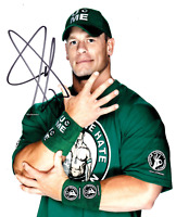 John Cena Autograph Pre Print Wrestling Photo 8x6 Inch Hologramed