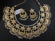 Indian Ethnic Traditional partywear women bridal kundan necklace set