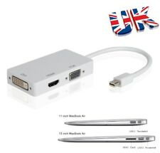 3 in 1 Thunderbolt Mini DisplayPort a HDMI/DVI/VGA Adattatore Per Apple MacBook