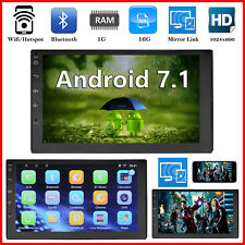 "Android 7.1 Bluetooth Car Stereo Radio 2 DIN 7"" HD MP5 FM Player Touchscreen GPS"