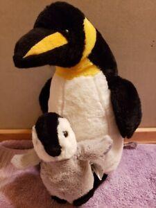 "Melissa & Doug 11"" Plush Stuffed Emperor Penguin with Baby Princess Soft Toys FS"