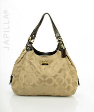 XL Coach 14324 Maggie Mia Optic beige canvas shoulder bag Purse