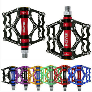 MZYRH Ultralight Flat MTB Bike Pedal Road Bicycle Pedals 9/16'' Sealed 3 Bearing