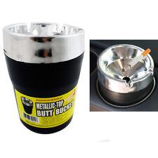 Metallic Top Butt Bucket Car Cigarette Ashtray Extinguish Odor Remover Container