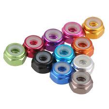 Anodized Aluminium Nylon Insert Hex Lock Nuts Colorful Self-lock Nuts M4/M5