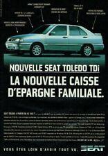Publicité Advertising  820 1996  nouvelle Seat Toledo Tdi nouvelle caisse epargn