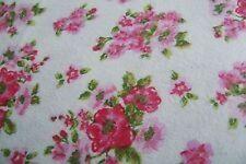 Basic Elements King Flannel Sheet Set Pink Rose Floral 100% Turkish Cotton  NEW