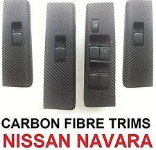NISSAN NAVARA D40 / R51 (2004-2014) 4 DOOR WINDOW SWITCH TRIMS-BLACK CARBON FBR