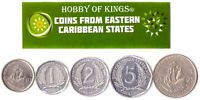 5 EAST CARIBBEAN STATES COIN DIFFER COLLECTIBLE COINS OECS FOREIGN CURRENCY