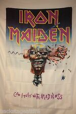 RARE IRON MAIDEN Can I Play With Madness? Eddie Cloth Poster Flag Fabric-New!!!