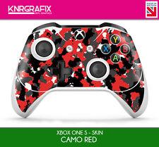 KNR6628 PREMIUM XBOX ONE S CONTROLLER SKIN CAMO RED