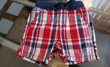 6 - 12 months Baby Next Shorts Cargo Style Red Blue White Check