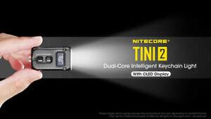 NiteCore TINI2 500 Lumen Osram P8 USB-C Rechargeable Pocket Torch Black Warranty