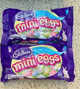 Cadbury Milk Chocolate Mini Eggs Crisp Shell 2 x 8oz Bags Easter Candy Favor NEW