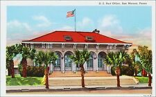 U.S. Post Office, San Marcos, TX. 1930s Linen.