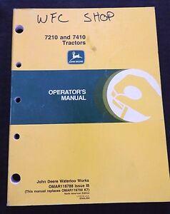 GENUINE 1998 1999 JOHN DEERE 7210 7410 TRACTOR OPERATORS MANUAL VERY NICE