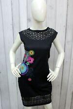 DESIGUAL Vestito Donna Taglia S Nero Viscosa Abito Dress Tubino Robe Kleid