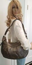 Coach Soho metallic pewter leather large hobo bag F13731