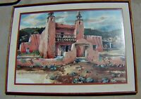 "Massive Painting, 49x36.75 "",  Hacienda, L/A SPIKE RESS; Utah/Western Art Framed"