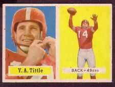 1957 TOPPS Y.A. TITTLE CARD NO:30 EXMINT CONDITION
