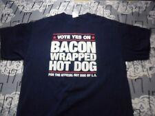 Large- Hot Dog Of LA Bacon Wrapped Gildan Brand T- Shirt
