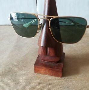 VINTAGE RAY BAN CARAVAN Gold B&l  USA G15 SMALL 52[]16 + CASE sunglasses