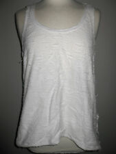 ZARA WHITE DECONSTRUCTED LOOSE FLARED SHABBY CHIC DRAPE VEST CAMISOLE TOP M TRF