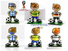 ROMERO BRITTO LOT OF 3 WORLD CUP SOCCER PLAYER FIGURINES: ARG, BRA & GER * NEW