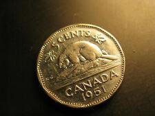 Canada 1951 Beaver 5 Cent Coin.