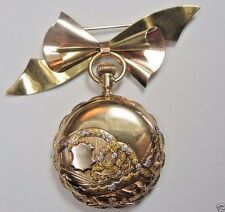 Retro Estate Lady Waltham Hunting Case Pocket Watch 14K Multi Color 6 Size