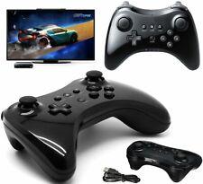 Wireless Schwarz Joystick Gamepad Pro Controller für Nintendo Wii U + Kabel