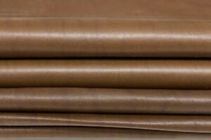 BROWN DISTRESSED soft Italian lambskin leather 2 skins total 14sqf 0.7mm #A7433