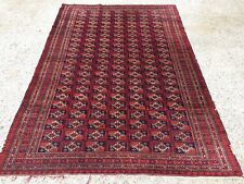 Antique Vintage Traditional Turkoman Rug Oriental Hand Made Rug 184x124cm boho
