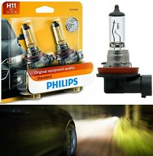 Philips Standard H11 55W Two Bulbs Head Light Low Beam Replace Plug Play DOT OE