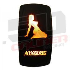 Rocker Switch Stripper Accessories Marine Ski Wakeboard Bass Pontoon Boat Orange