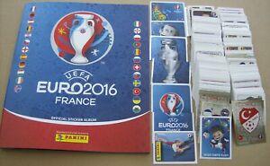 UEFA EURO 2016 France complete set of 680 stickers + Empty album MINT