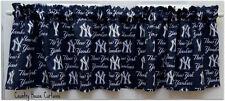 "MLB Baseball NY New York Yankees Handmade Window Curtain Valance 56"" W x 13"" L"