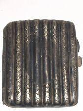 Beautiful EARLY EPNS Silver Hallmarked Cigarette Case Victorian Era Detail