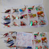 Hooooot 30pcs Colorful Trout Spoon Metal Fishing Lures Spinner Baits Bass Tackle