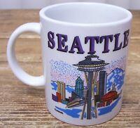 Seattle Washington Space Needle City Scene Coffee Mug Cup Vintage