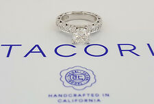 2.09 ct TACORI HT 2229A Platinum Round Diamond Engagement Ring Ideal Cut GIA