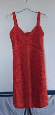 Anthropologie Anna Sui Red Pink Silk Floral Dress Women's Sz 6