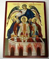IKONE  Heilige drei Jünglinge im Feuerofen Icon Icone Ikona Ikonen Icoon Icona