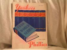 1950 YANKEES VS PHILLIES WORLD SERIES PROGRAM